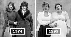 Enlace a Fotos de antes y después que muestran cómo ha cambiado la gente en 20 años o más