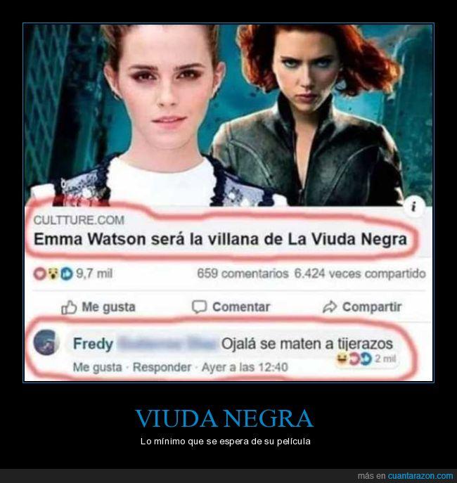 comentario,emma watson,matarse,tijeretazos,villana,viuda negra