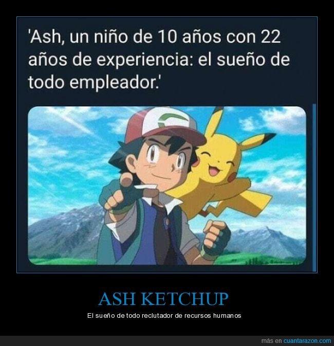 10 años,ash,experiencia,pokemon,trabajo