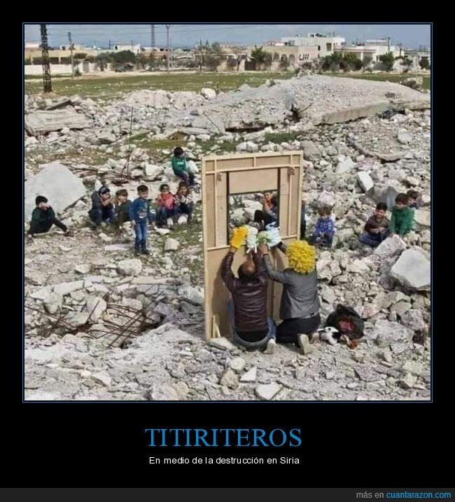 guerra,siria,titiriteros