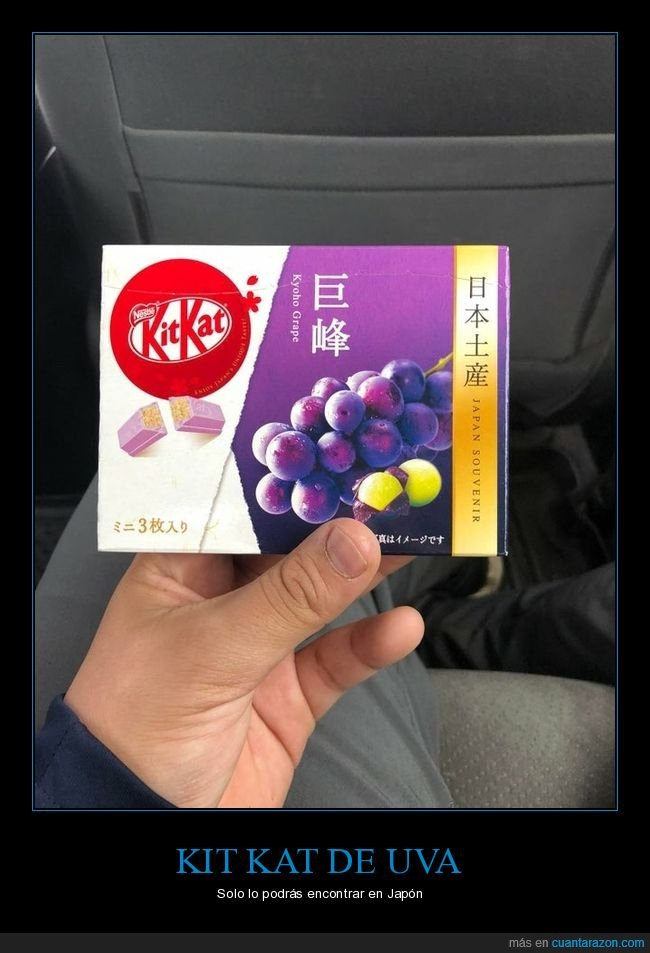 japón,kit kat,uva