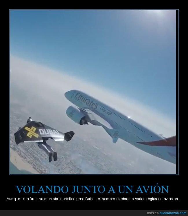 avión,dubai,volando