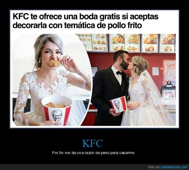 boda,decorar,gratis,kentucky,kfc,pollo frito,temática,wtf