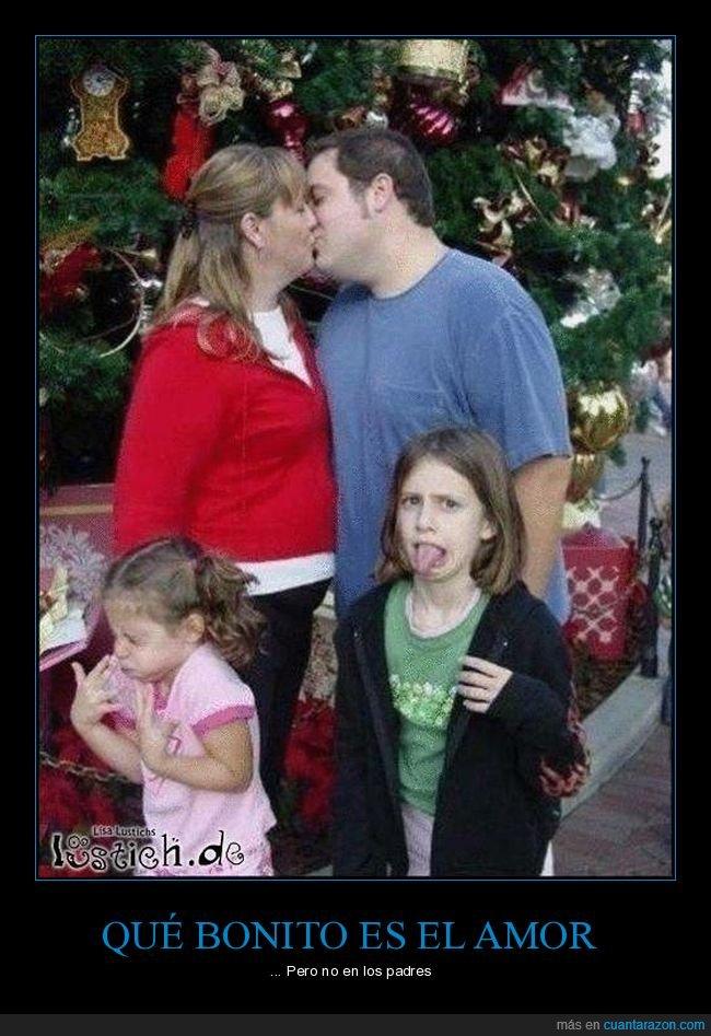 amor,besándose,niños,padres