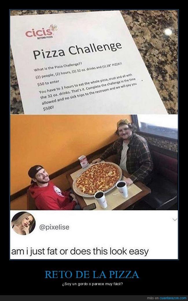 fácil,pizza,reto