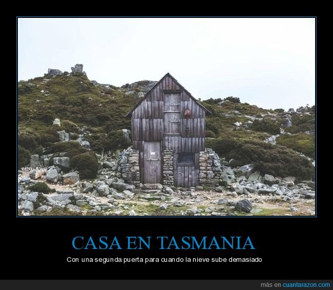 casa,nieve,puerta,tasmania