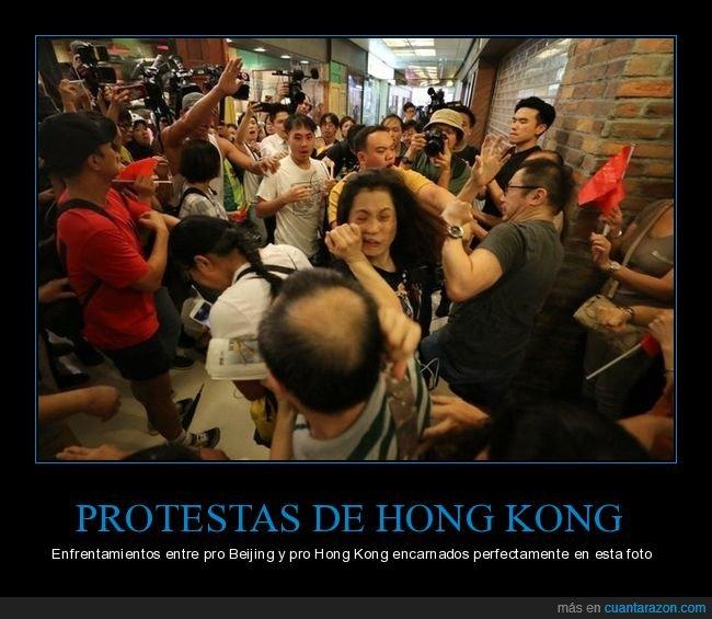 enfrentamiento,hong kong,protestas