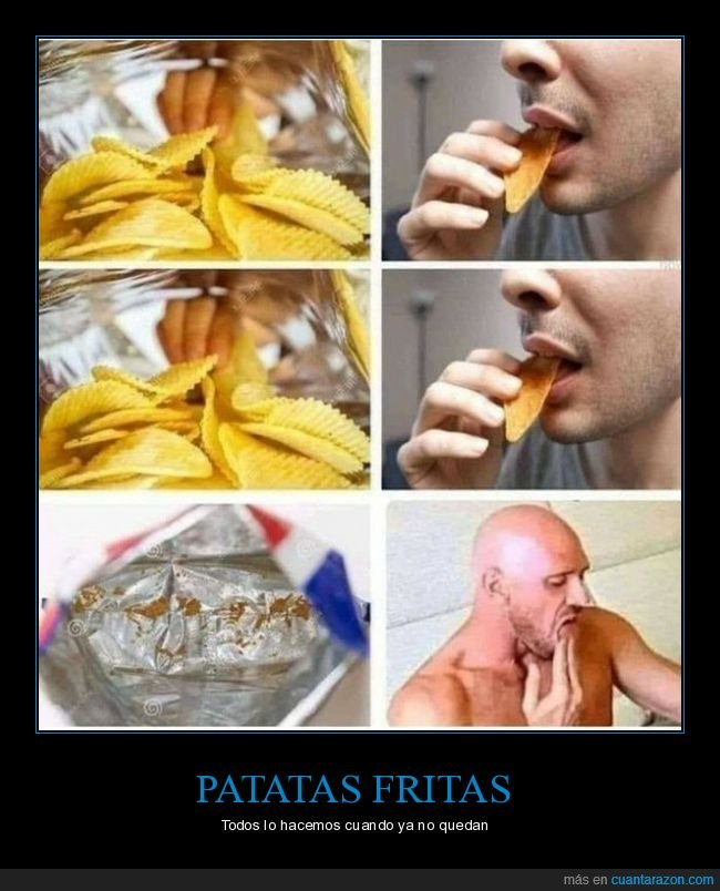 chupar,dedos,patatas