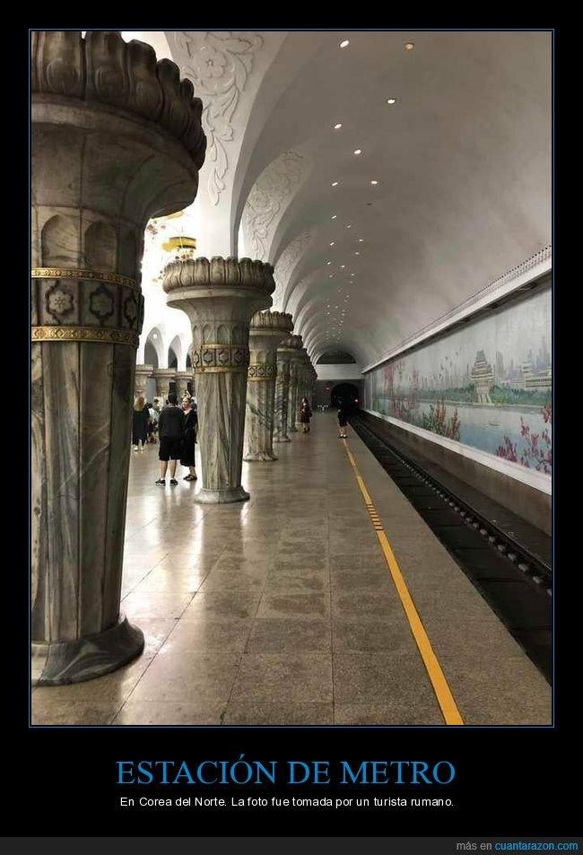 corea del norte,estación de metro,metro
