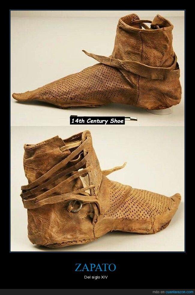 curiosidades,siglo xiv,zapato