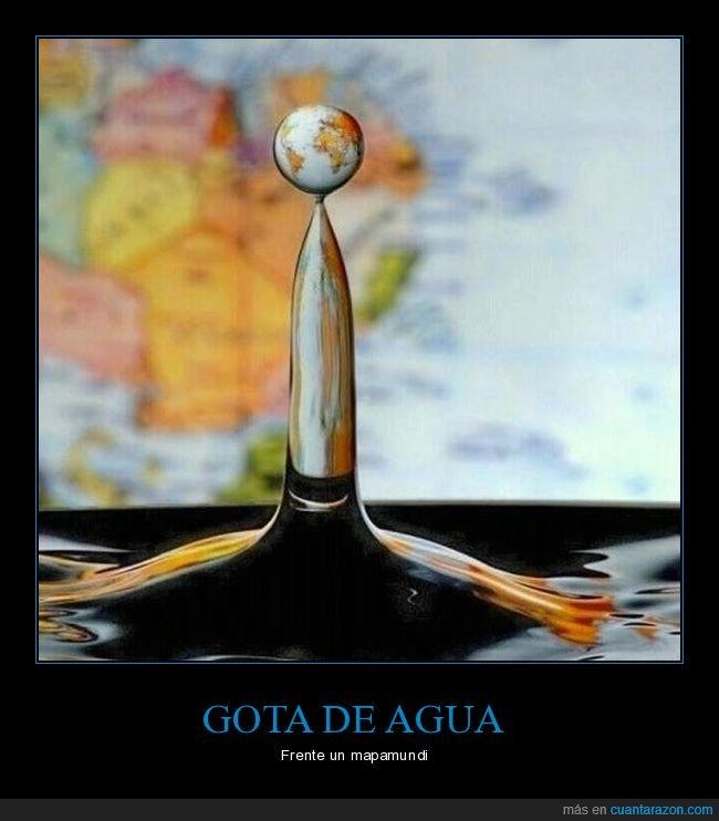 agua,gota,mapamundi