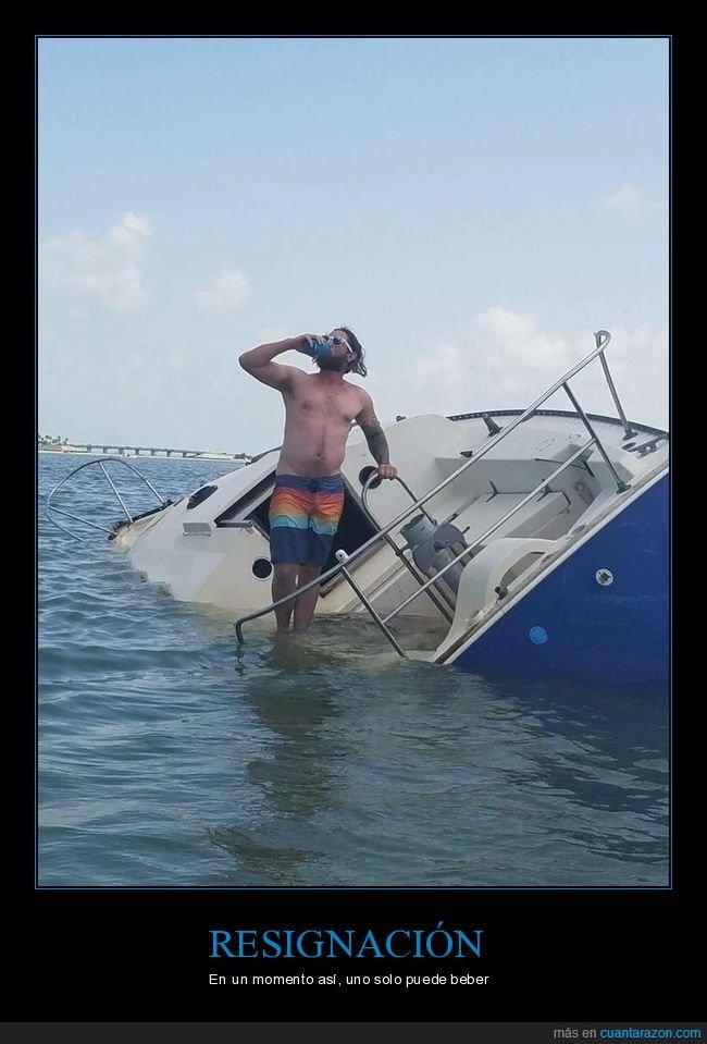barco,bebiendo,hundiéndose