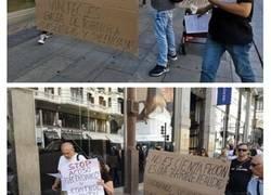 Enlace a Manifestantes en la Gran Vía que creen que están siendo atacadas con armas electromagnéticas que controlan sus pensamientos