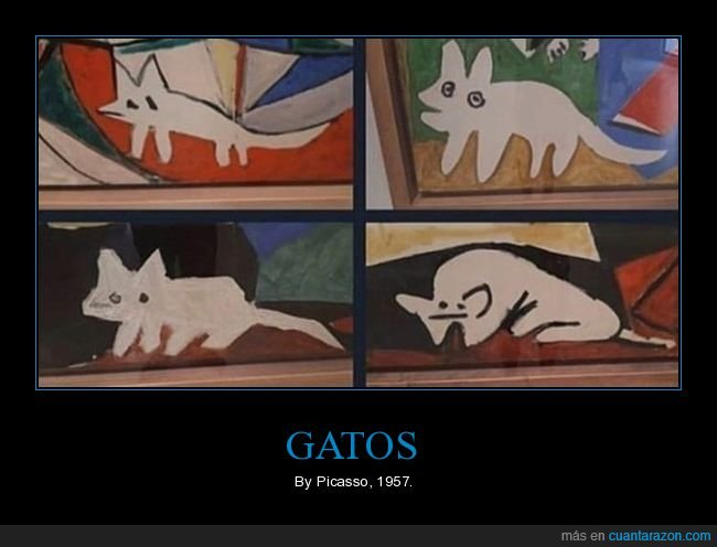 arte,gatos,picasso