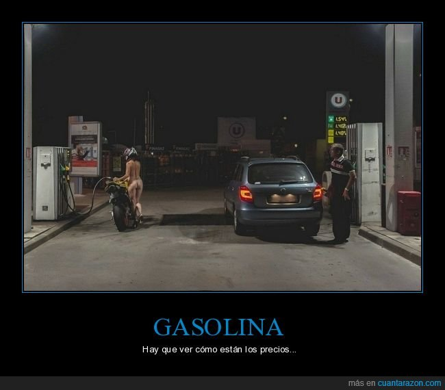 desnuda,gasolinera,moto,wtf