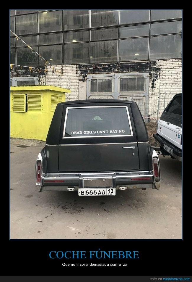 chicas,coche,coche fúnebre,muertas,no,wtf