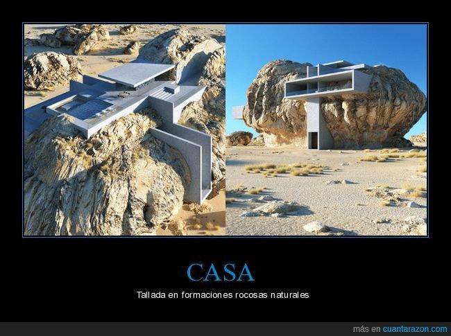 casa,rocas,tallada