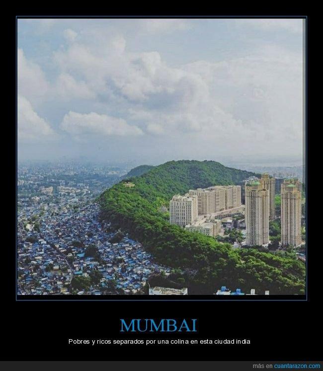 mumbai,pobres,ricos,separados