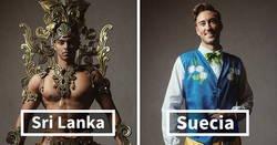 Enlace a Los concursantes de Mister Global se visten con sus trajes regionales y parecen jefes de videojuego
