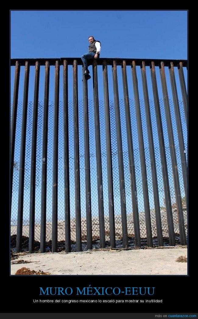 eeuu,escalar,inutilidad,méxico,muro