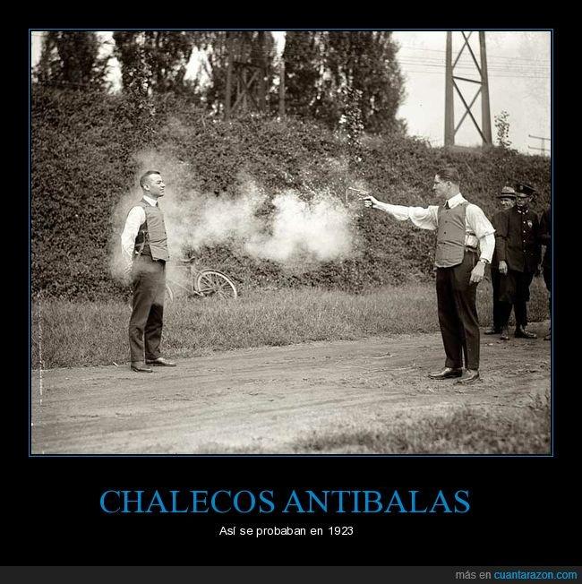 1923,chalecos antibalas,probando