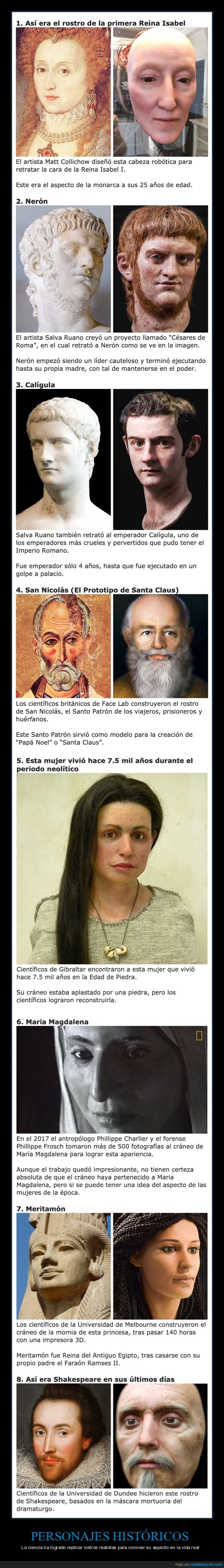 caras,personajes históricos,réplicas