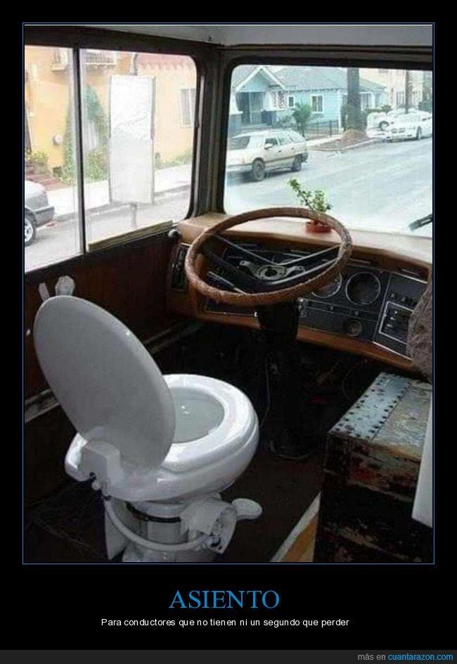 asiento,camión,váter