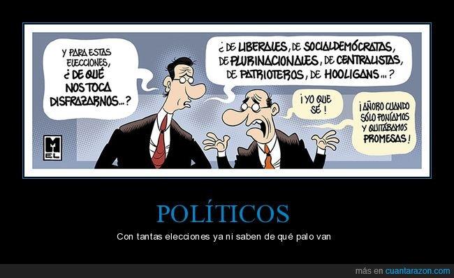 disfrazarse,elecciones,políticos