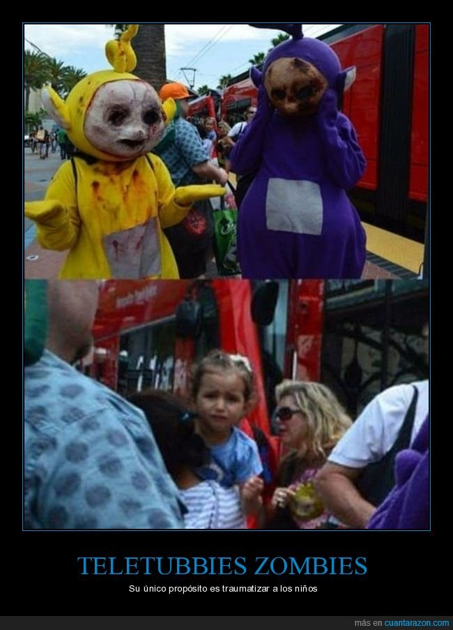 miedo,niños,teletubbies,zombies