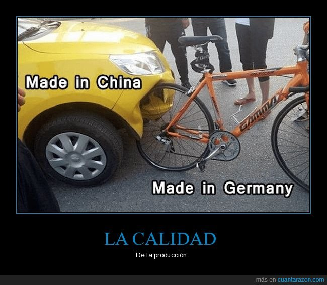 accidente,bicicleta,coche,made in china,made in germany