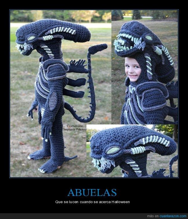 abuela,alien,disfraz,halloween