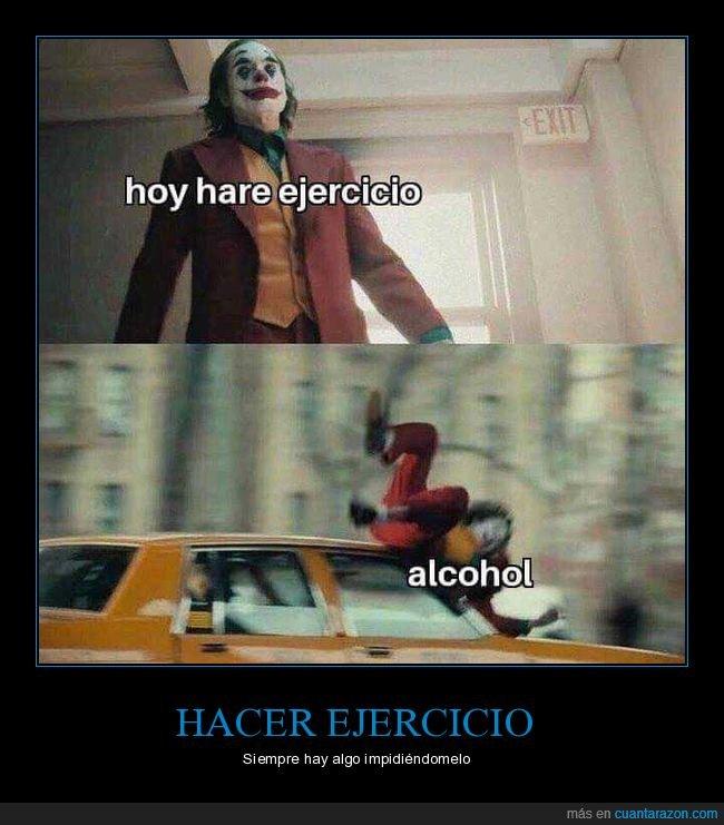 alcohol,ejercicio,joker