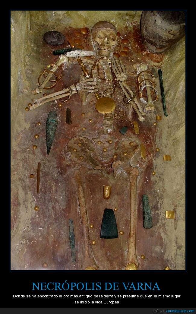 antiguo,necrípolis,oro,varna