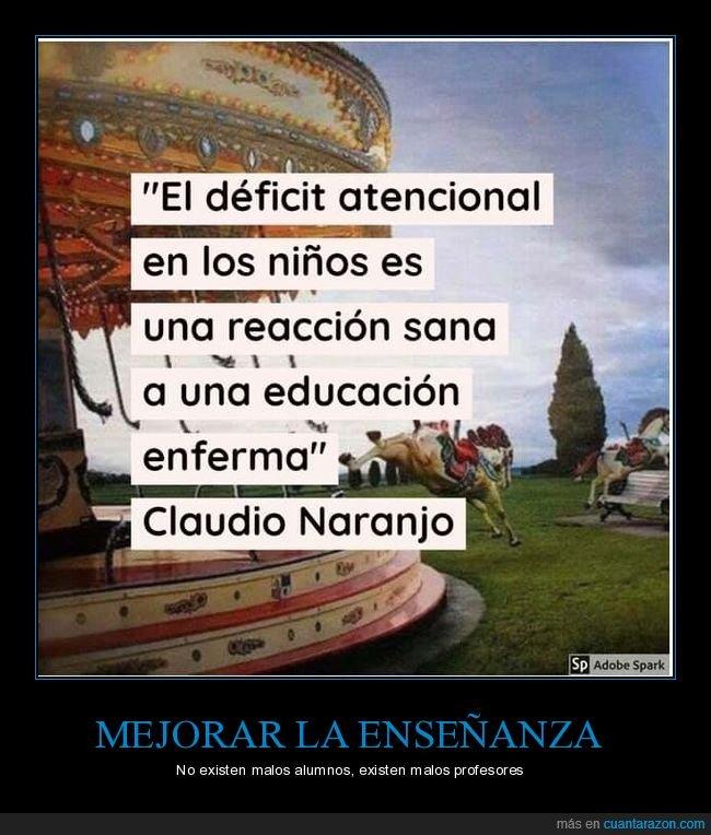 déficit de atención,educación,enseñanza