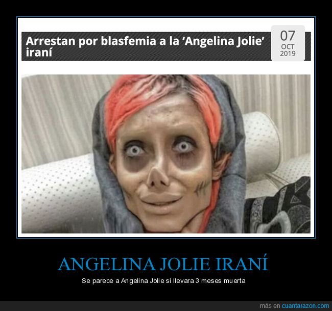 angelina jolie,arrestada,blasfemia,iraní,sahar tabar