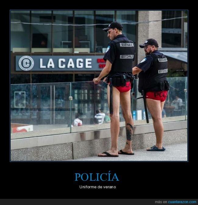 calzoncillos,policía,uniforme