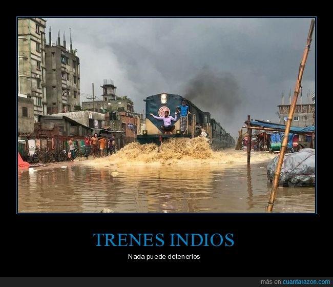 india,inundación,tren