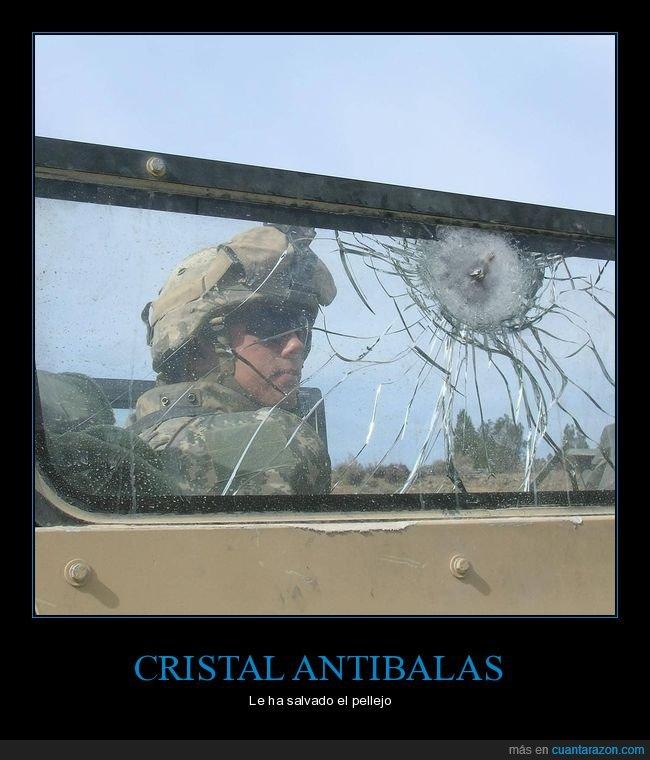 antibalas,cristal,soldado