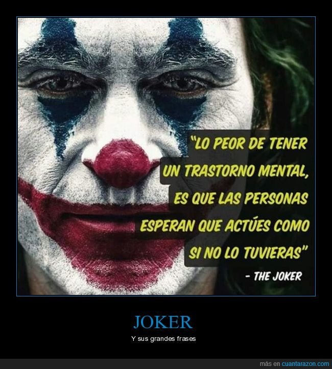 joker,trastorno mental