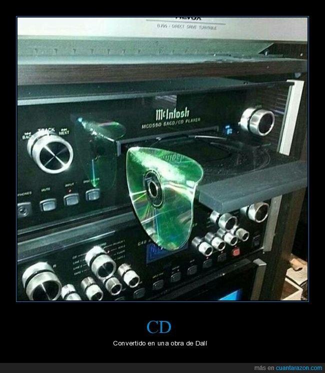 cd,dalí,derretido