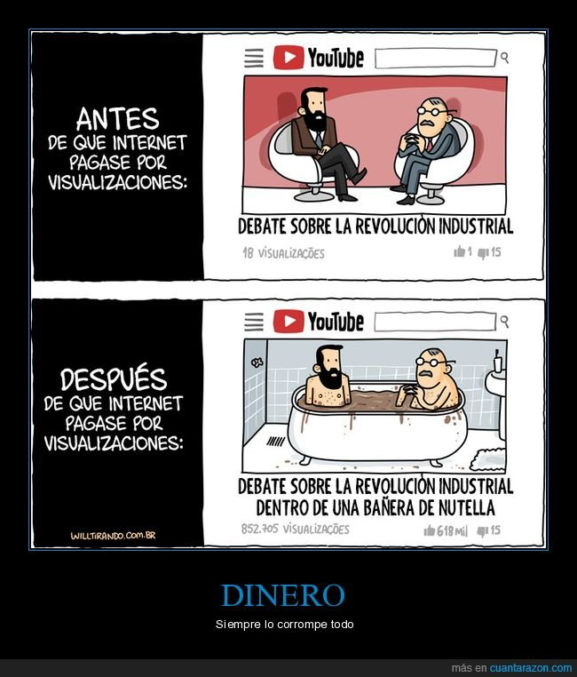 internet,pagar,visualizaciones,youtube