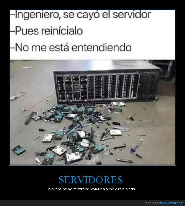 caído,reiniciar,servidor