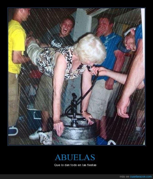 abuela,barril,bebiendo,cerveza,wtf