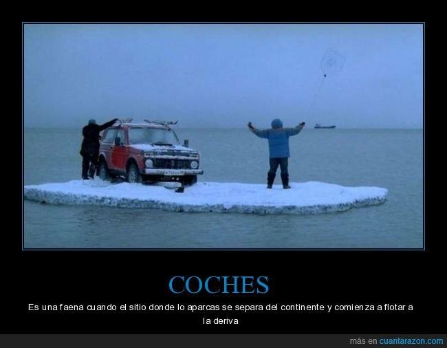 coche,hielo,mar,wtf