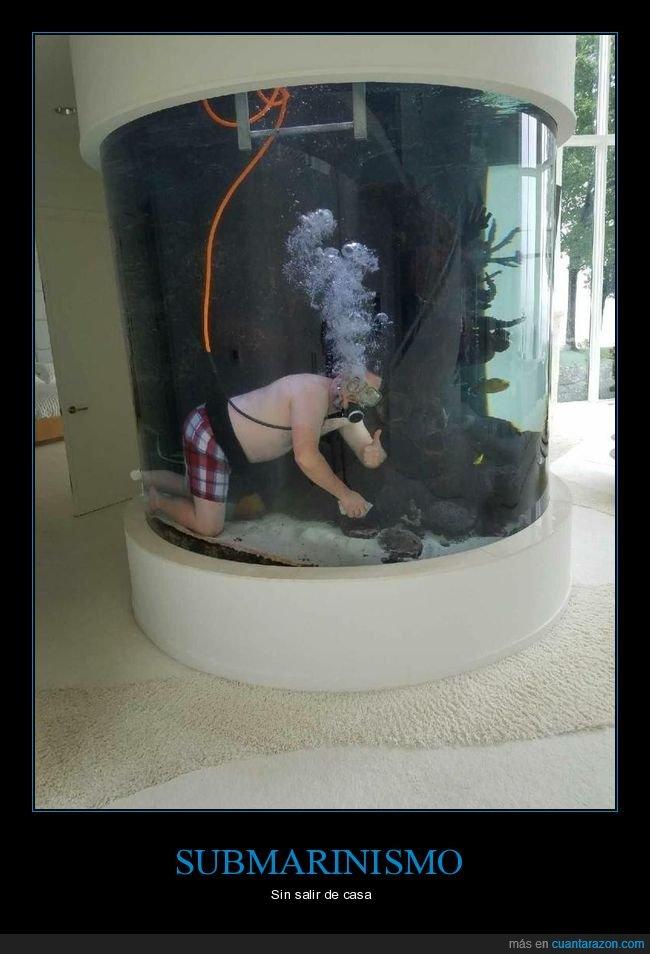 buceando,casa,submarinismo