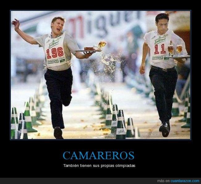 camareros,competición,olimpiadas