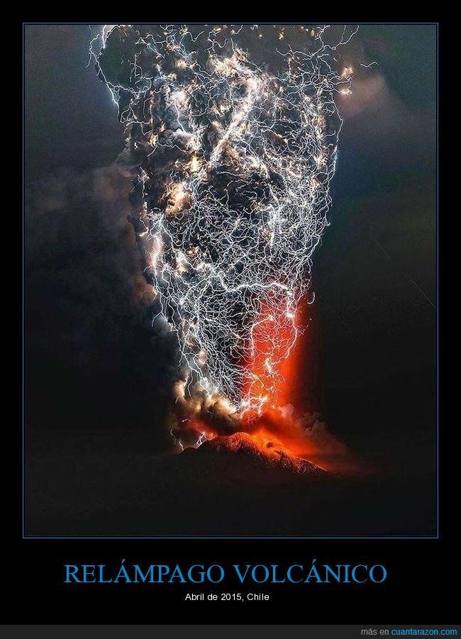 chile,relámpago volcánico,volcán