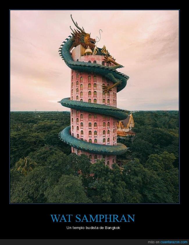 bangkok,templo budista,wat samphran