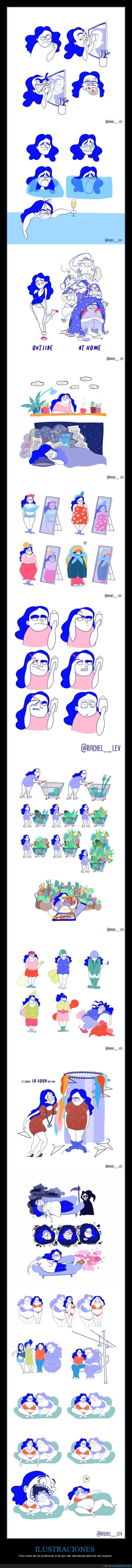 ilustraciones,mujeres,problemas