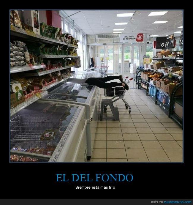 fondo,nevera,supermercado